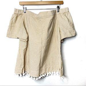🎃3/$20🎃Eloquii Plus Size Summer Tassel Blouse